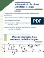 Dimensionamiento con tensiones variables