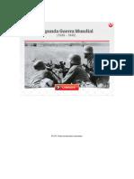 CRISIS POLÍTICA/SEGUNDA GUERRA MUNDIAL Y GUERRA FRÍA - Segunda Guerra Mundial