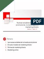 Nuevas Variables de La Mezcla Promocional, Tecnología y Marketing Directo