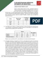 Ejercicios de Formulacion II-2018
