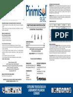 Etiqueta Pirimisol 1l-Digesa