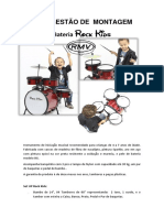 Bateria Infantil Rock Kids Rmv Manual