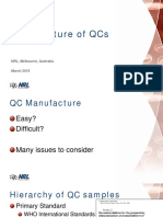 Manufacture of QC