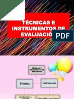 TECNICA E INTRUMENTOS DE EVALUACIÒN.pptx