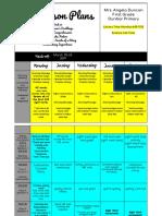 week 29 lesson plans