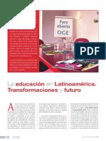 La educación en latinoamericano