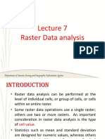 Lecture 7 Raster Data Analysis- Local, Neighborhood and Regional Operations