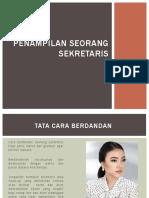 Penampilan Seorang sekretaris