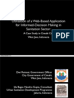 Web Based app in Sanitation Sector
