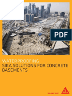 Sika Solutions for Watertight Basement Structure
