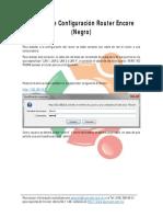 Manual de Configuración Router Encore Negro