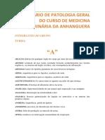 GLOSSÁRIO DE PATOLOGIA GERAL DO CURSO DE MEDICINA VETERINÁRIA DA ANHANGUERA - 2.docx
