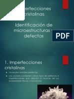 Imperfecciones cristalinas Laboratorio