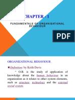 Organizational behaviours