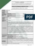 Programa de Formación Instalacion Redes Hfc