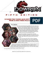 Shadowrun 5E Beginners Guide