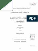 Plan de trabajo de la Academia de Comunicación Y Lenguaje