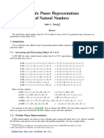 Flexible power representations of natural numbers