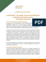 Estado de Cosas Inconstitucional en La Guajira