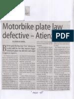 Manila Times, Mar. 25, 2019, Motorbike plate law defective - Atienza.pdf