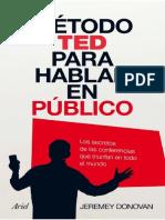 Método ted Para Hablar en Público - Jeremey, Donovan.pdf