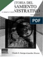 Historia Del Pensamiento Administrativo Claude S, George y Álvarez