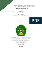 RESUME BUKU METODOLOGI STUDI ISLAM Dr.docx