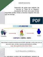 Registro de Titulos Segun El Sistema Registral Peruano