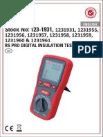 RS PRO DIGITAL INSULATION TESTER