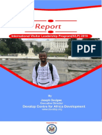 Report of Joseph Osuigwe Participation - U.S International Visitors Leadership Program on Human Trafficking- 2018
