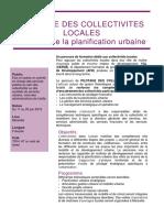 Plaquette Planification Urbaine 2019