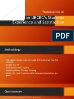 Survey on UKCBC's Students Experience and Satisfaction