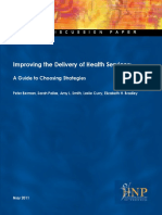 Improving Delivery of Health Services Final