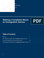 Making a Complaint About an Immigration Adviser
