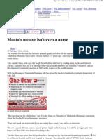 Article about great Tine Van Der Maas in newspaper STAR