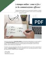 Comunicato Stampa Online Come Si Fa e Come Rendere La Comunicazione Efficace