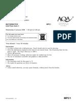 AQA-MPC1-W-QP-JAN08