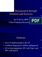 Diabetes  Through Nutrition and Exercise