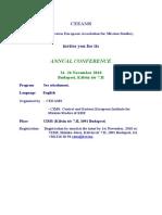 CEEAMS Conference Invitation