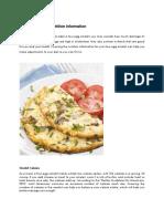 Egg Omlet Nutrition Information