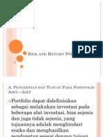 Session 9 - Risk and Return Por to Folio