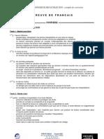 Correction Francais 2010-2