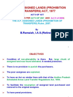 The a.P.assigned Lands(Prohibition of Transfers)ACT1977
