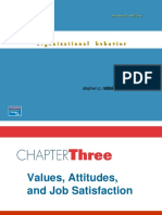 Values, Attitudes, And Job Satisfaction