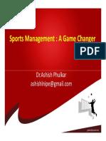Sports Management Game Changer