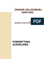 Seminar on Journal Writing 3.1