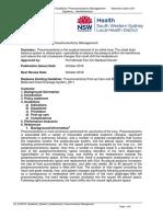 Pneumonectomy Management
