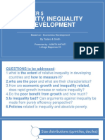 Poverty In Equality and Development