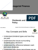 7 Dividends and Dividend Policy