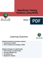 11. Hypothesis Testing Results Analysis Using SPSS RM Dec 2017